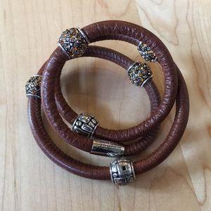 Brighton Woodstock Triple Bracelet leather